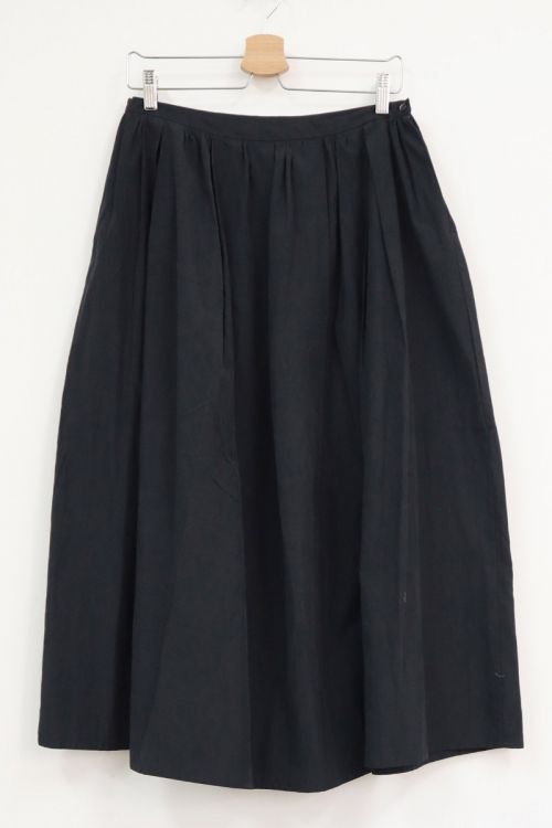 Tucked Maxi Skirt Black Navy by Toujours