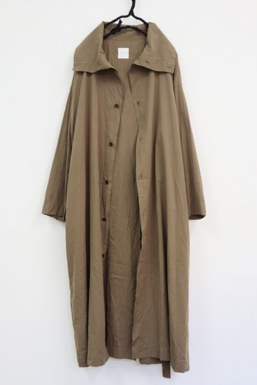 High Neck Shirt Dress Tobacco by Toujours