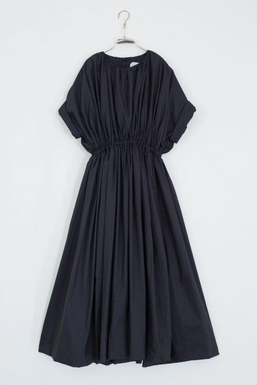 Long Cotton Dress Ditta Black by Ecole de Curiosites