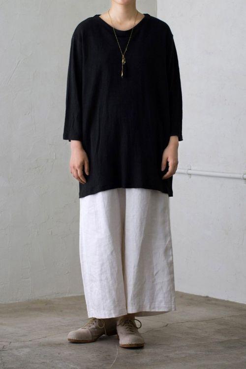 Linen Tunic Black by Vlas Blomme