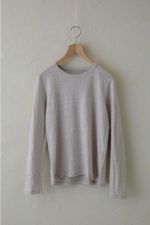 Linen Long Sleeved Shirt  Light Grey by Vlas Blomme