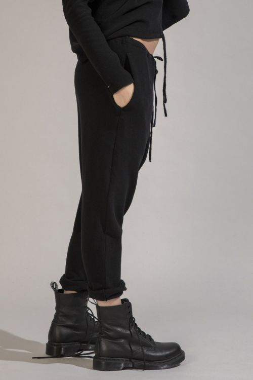 Soft Jersey Trousers New Basic Charcoal by Album di Famiglia