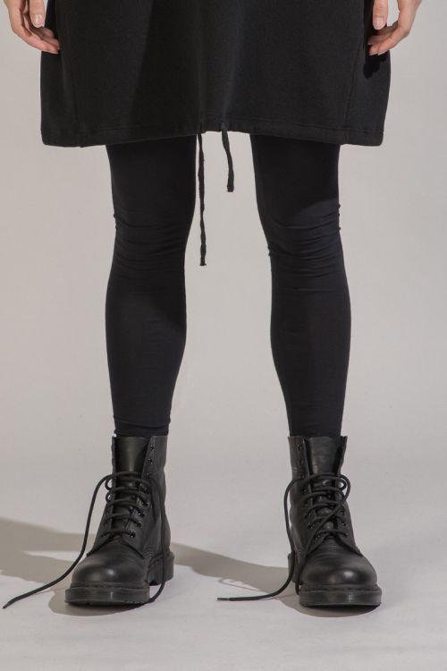 Soft Jersey Leggings Black by Album di Famiglia