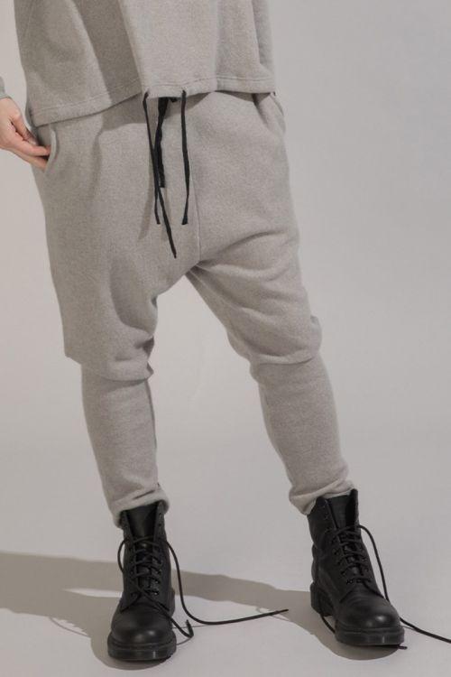 Cashmere Trousers New Basic Light Grey by Album di Famiglia-XS