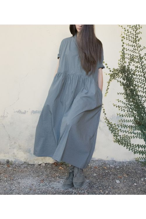 Long Kimono Dress Olive by Album di Famiglia-XS