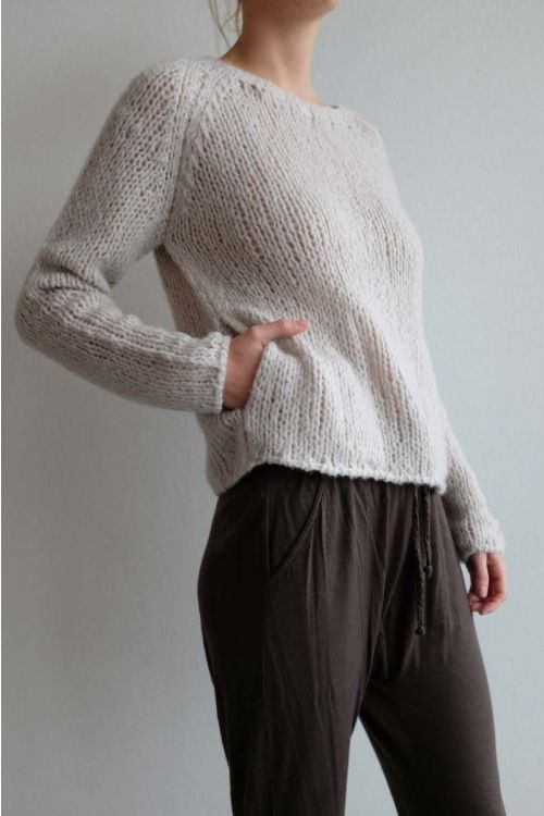Handmade Cashmere Sweater Sand by Private0204-S