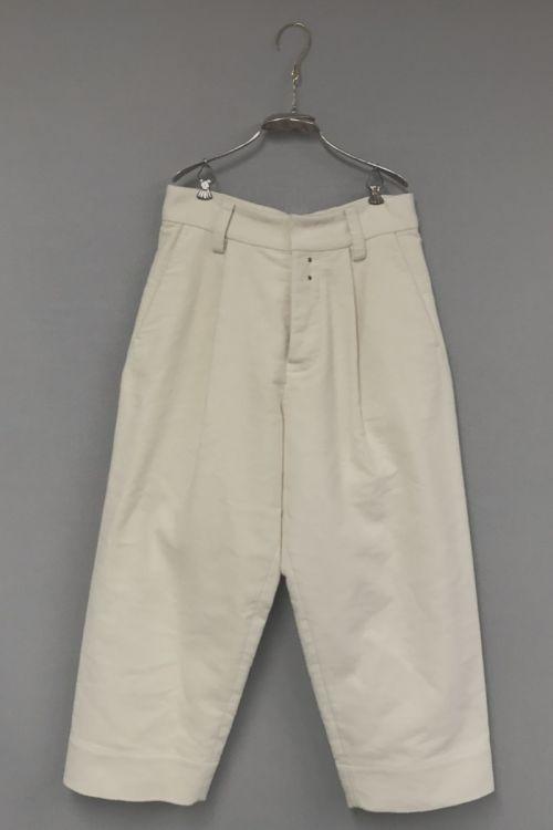 Moleskin Cotton Trousers Paul Ivory by Ecole de Curiosites