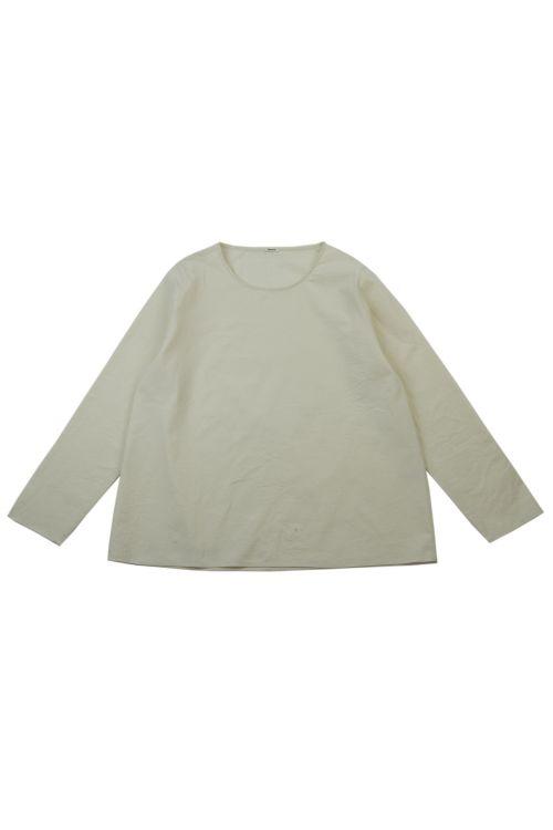 Cotton Blouse Naturale by ApuntoB-XS