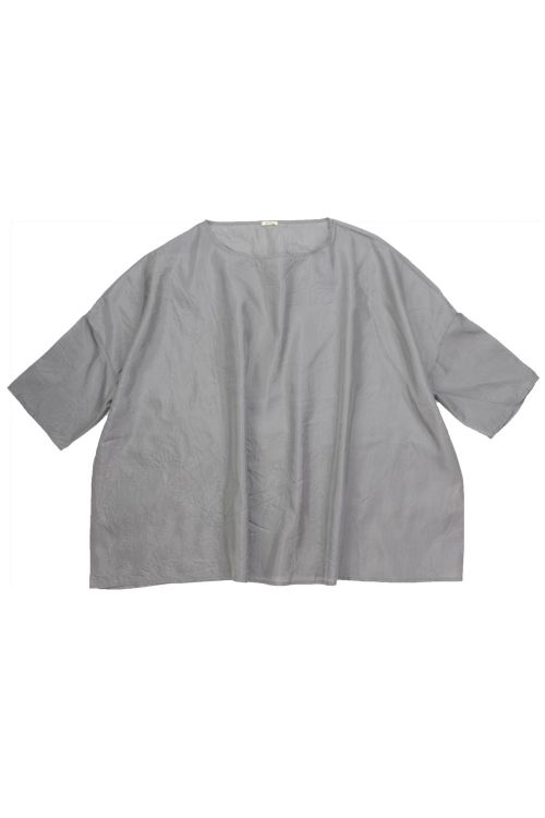 Wide Silk Shirt Stone by ApuntoB
