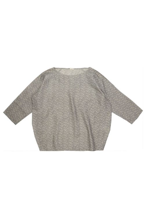 Silk Shirt Black Ecru Check by ApuntoB