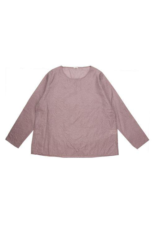 Silk Shirt Rose Check by ApuntoB