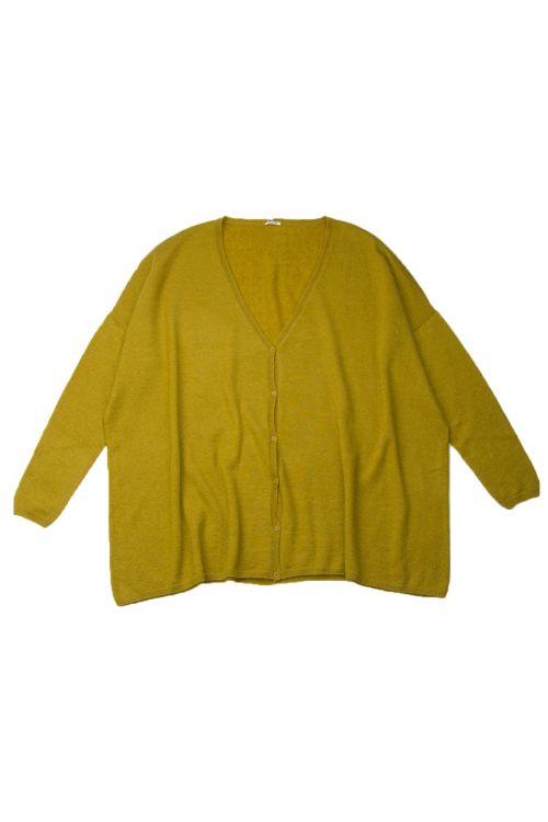Cashmere and Silk Long Cardigan Curcuma by ApuntoB-XS