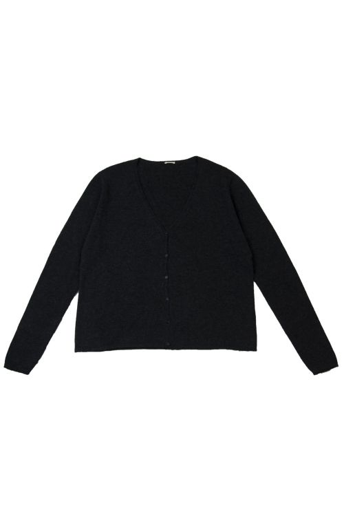Cashmere and Silk Cardigan Anthracite by ApuntoB
