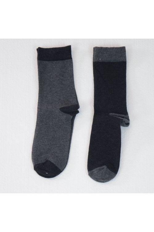 Bicolor Socks Anthracite - Set of Two by Album di Famiglia