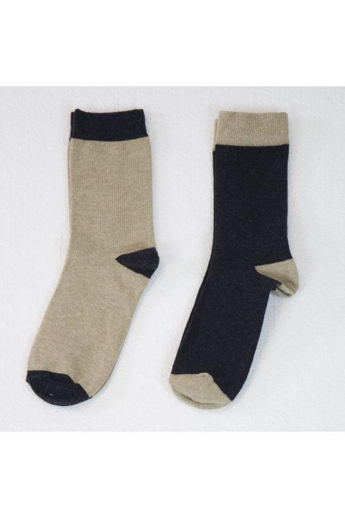 Bicolor Socks Cappuccino - Set of Two by Album di Famiglia-TU