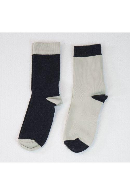 Bicolor Socks Off-White - Set of Two by Album di Famiglia