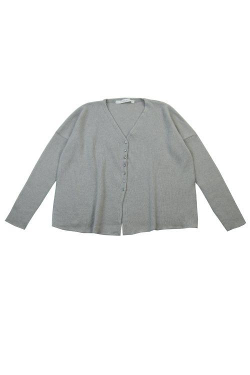 Cashmere Cardigan Light Grey by Album di Famiglia-TU