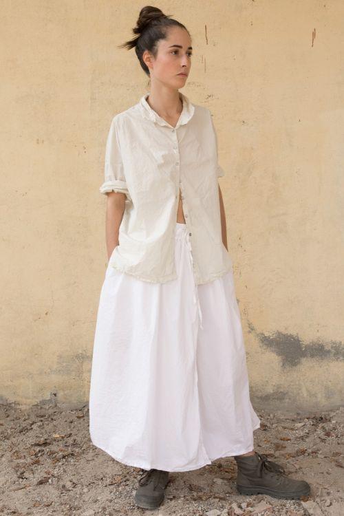 Cotton Skirt White by Album di Famiglia