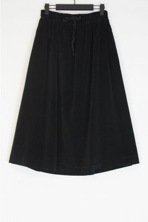 Double Velvet Skirt Black by Album di Famiglia
