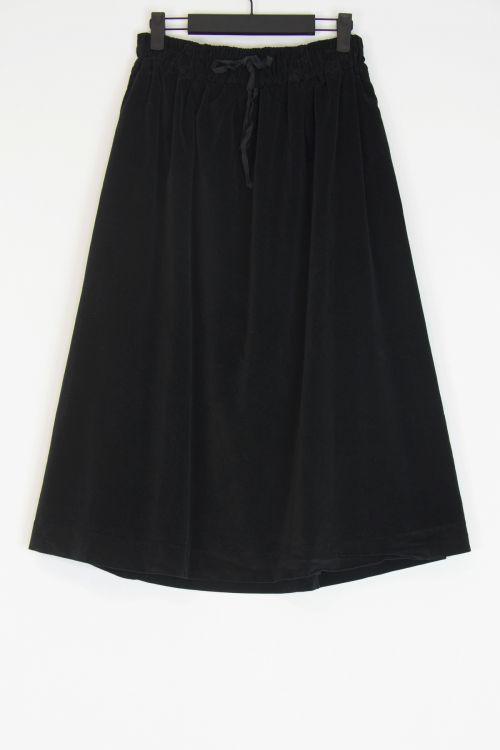 Double Velvet Skirt Black by Album di Famiglia-S/M