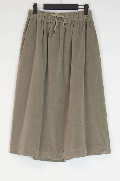Double Velvet Skirt Marron Glace by Album di Famiglia-S/M