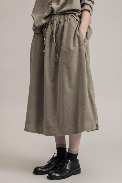 Double Velvet Skirt Marron Glace by Album di Famiglia