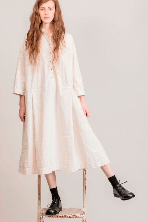 Japanese Cotton Dress Natural by Album di Famiglia-TU