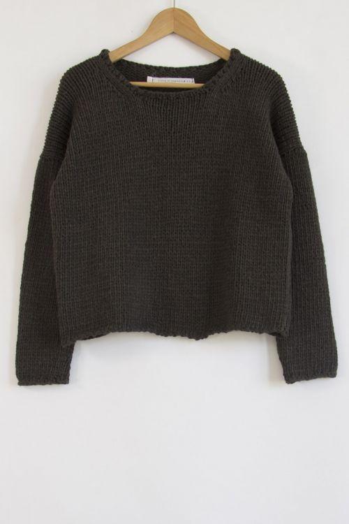 Knitted Pullover Bark by Album di Famiglia