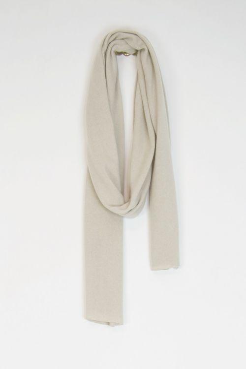 Long Cashmere Scarf Off-White by Album di Famiglia