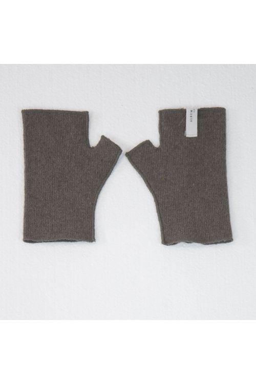 Short Fingerless Cashmere Gloves Marron Glace by Album di Famiglia