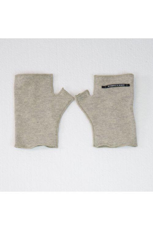 Short Fingerless Jersey Gloves Cappuccino by Album di Famiglia