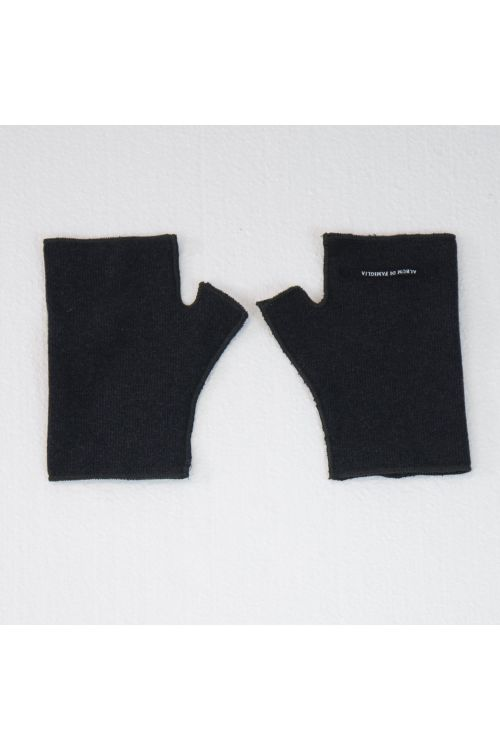 Short Fingerless Jersey Gloves Charcoal by Album di Famiglia