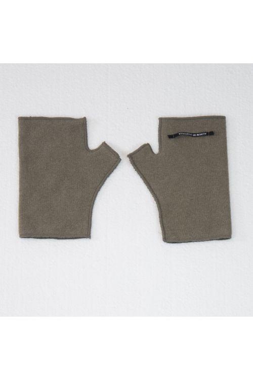 Short Fingerless Jersey Gloves Marron Glace by Album di Famiglia