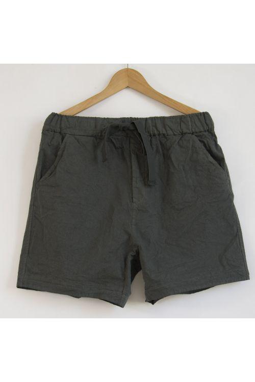 Compact Cotton Shorts Olive by Album di Famiglia-XS
