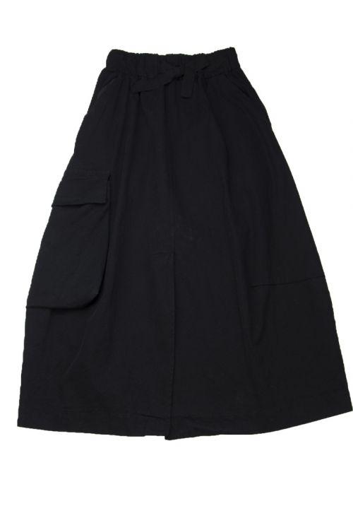 Canvas Stretch Cargo Skirt Black by Album di Famiglia-XS