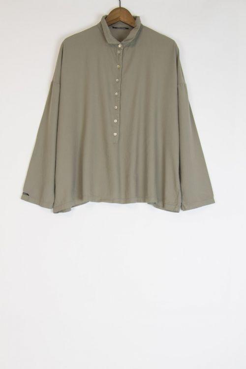 Soft Canvas Collar Shirt Marron Glace by Album di Famiglia