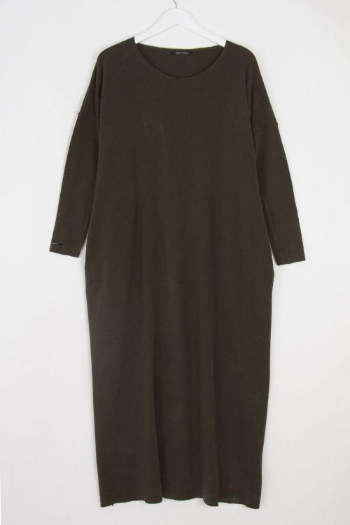 Soft Jersey Round Neck Dress Moka by Album di Famiglia