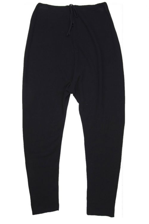 Soft Cotton New Basic Trousers Black by Album di Famiglia