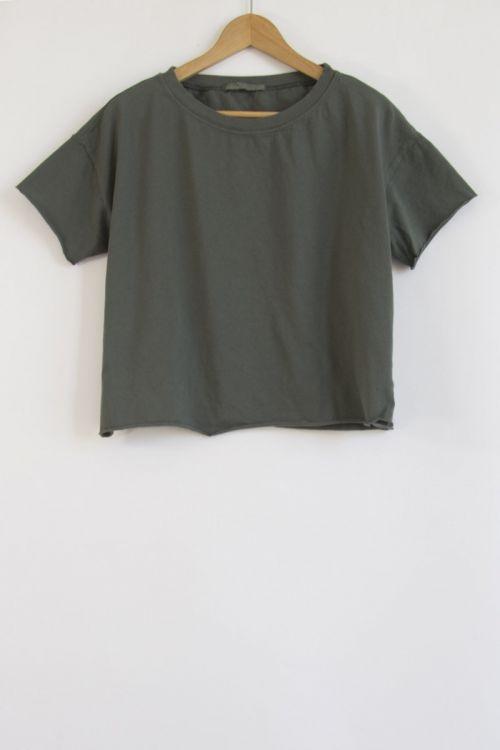 Heavy Cotton T-Shirt Olive by Album di Famiglia