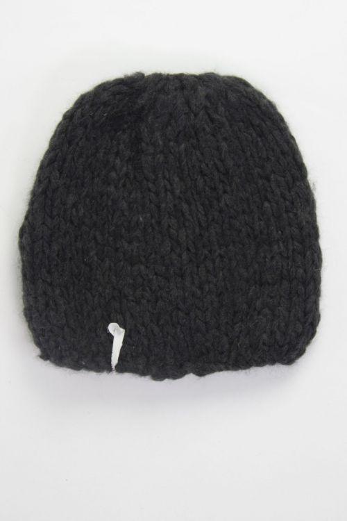 Ultra Soft Cashmere Hat Charcoal by Album di Famiglia