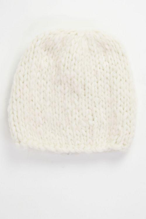 Ultra Soft Cashmere Hat Milk by Album di Famiglia-TU