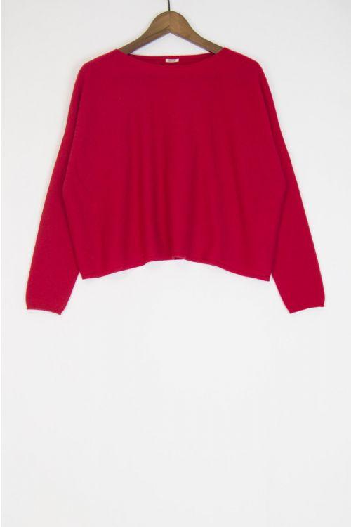 Cashmere Short Pullover Cherry by ApuntoB