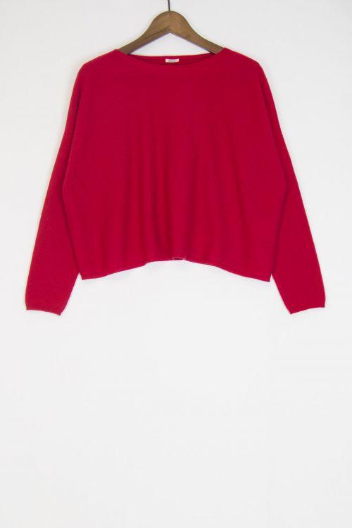 Cashmere Short Pullover Cherry by ApuntoB-S