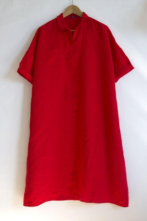 Linen Dress Cherry by ApuntoB-S