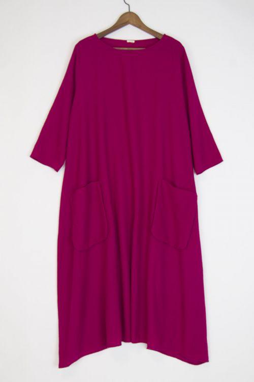 Virgin Wool Dress Raspberry by ApuntoB-S