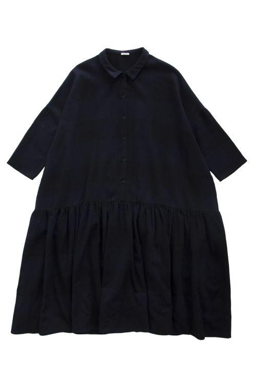 Virgin Wool Dress Blue/Black Check by ApuntoB-XS