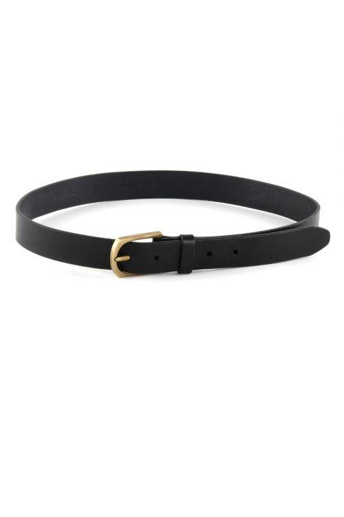 Leather Belt Black by Manuelle Guibal