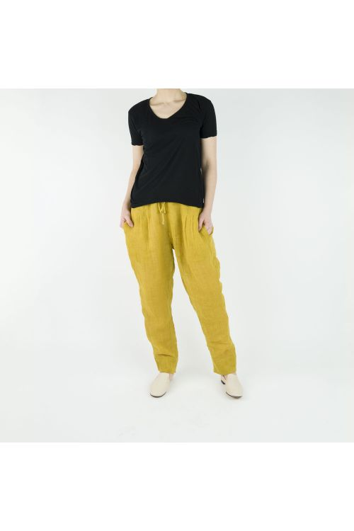 Linen Trousers Yellow by Pero