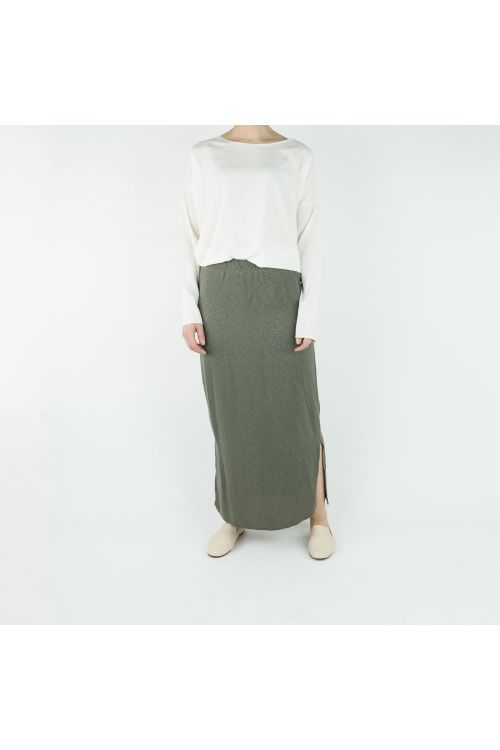Long Silk Skirt Green by Private0204