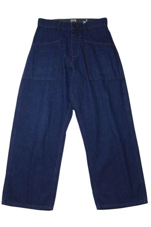 Navy Denim Deck Pants by Chimala-S